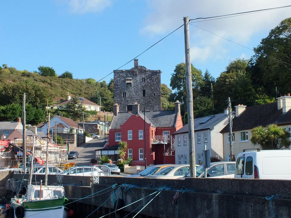 Ballyhack, Co Wexford, which is joined by car ferry to Passage east in Co Waterford.